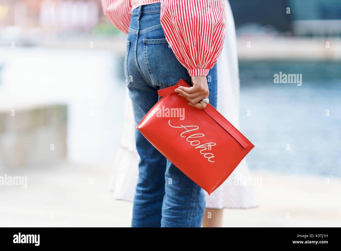 A Chic Showgoer Arriving At The Designers Remix Runway Show During Stock Photo 157278285 Alamy