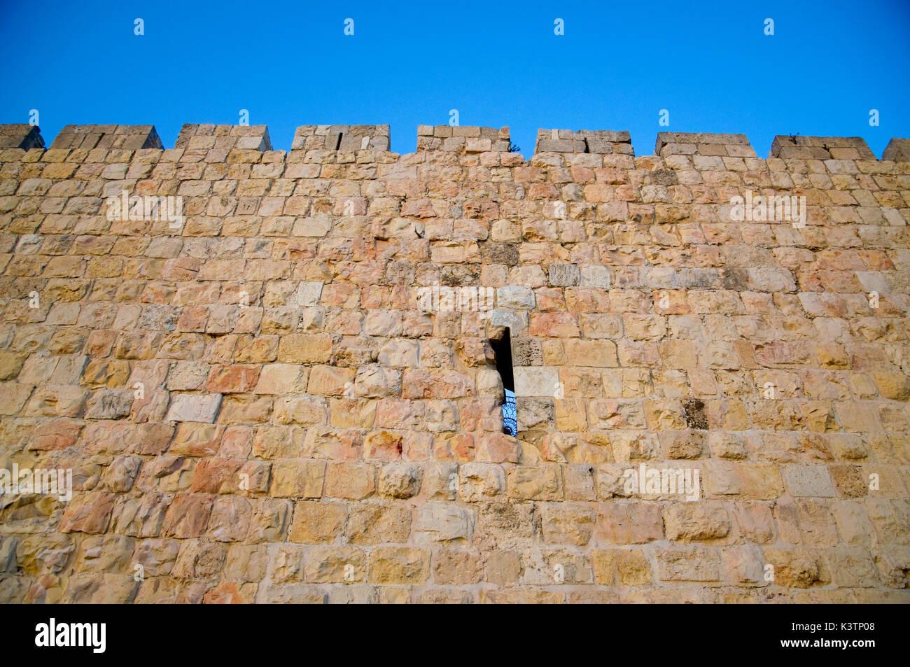 Jerusalem surrounding walls - Stock Image