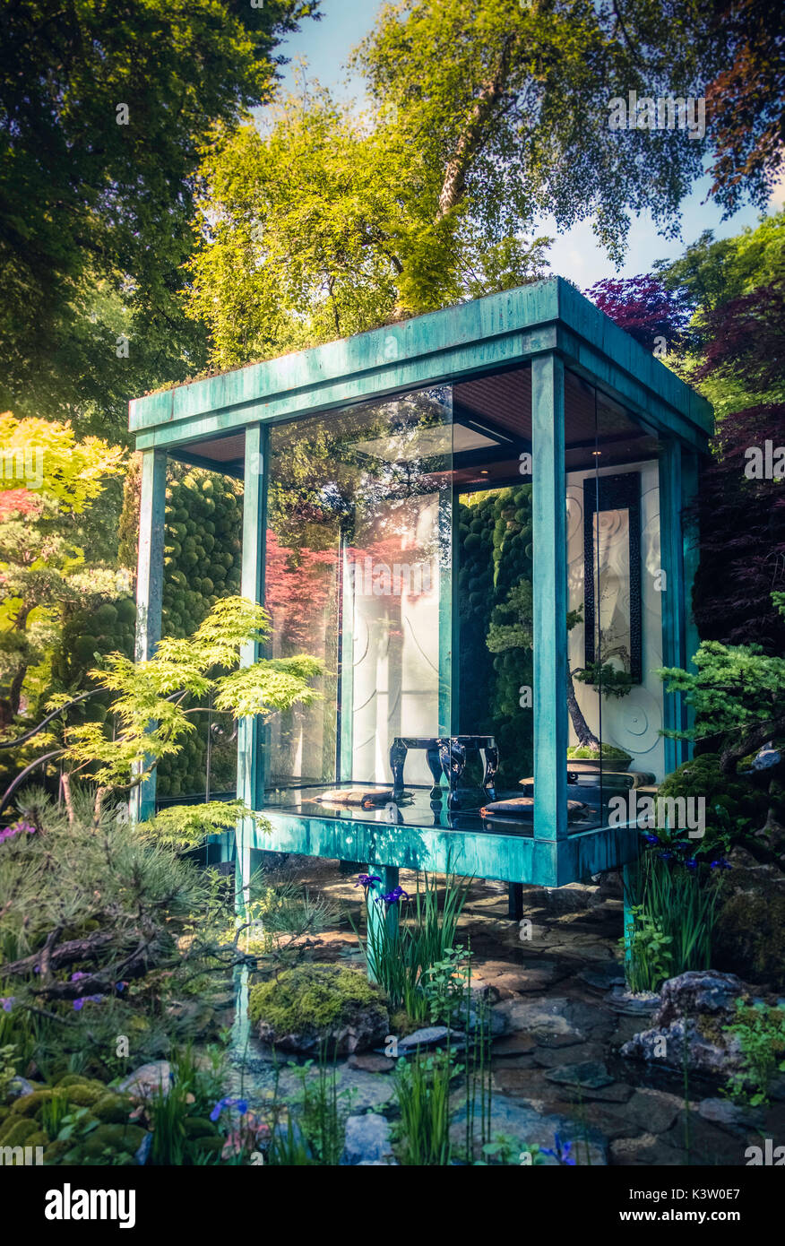 The Gosho No Niwa artisan garden at the 2017 Chelsea Flower Show, London. - Stock Image