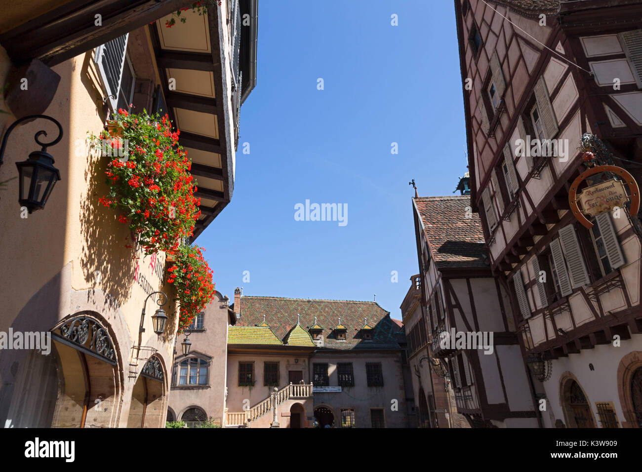 Colmar, Alsace, France. Typical alsatian houses - Stock Image