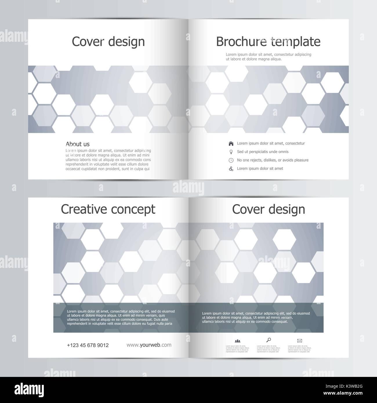 abstract half fold brochure template design stock photos abstract