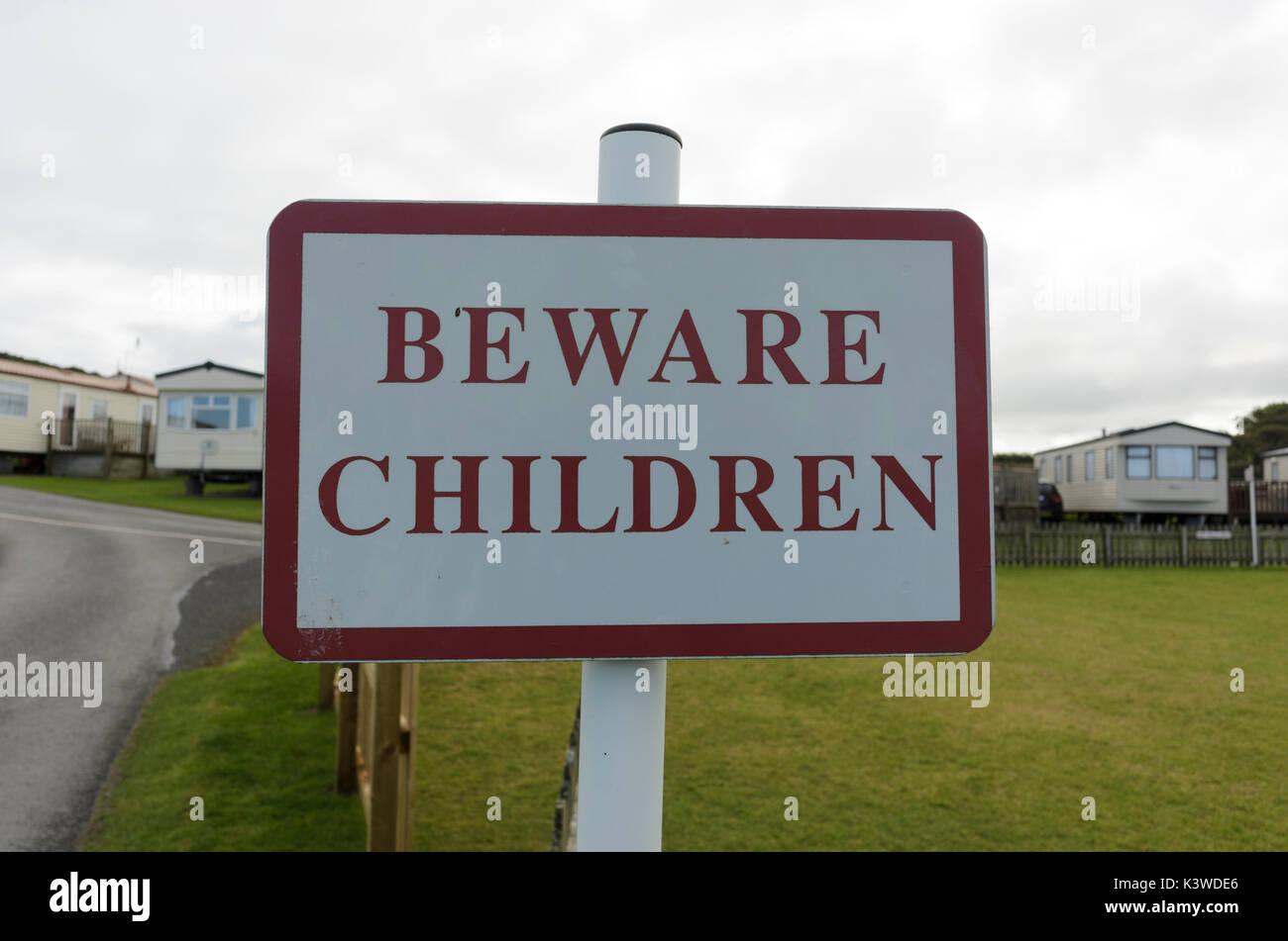 Beware Children sign - Stock Image