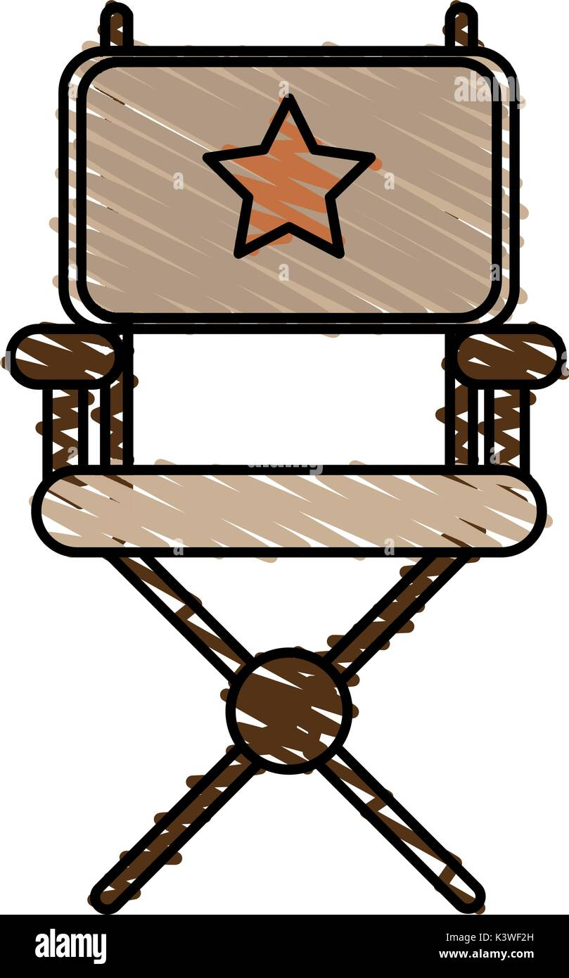 Isolated director chair design Stock Vector Art Illustration