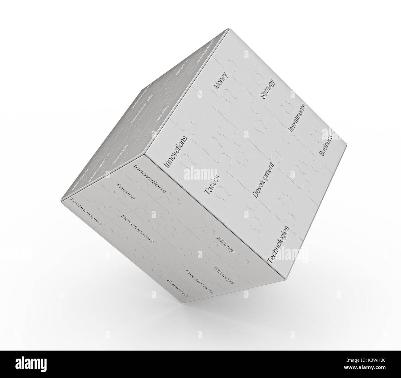 Business cube graphic background 3d rendering - Stock Image