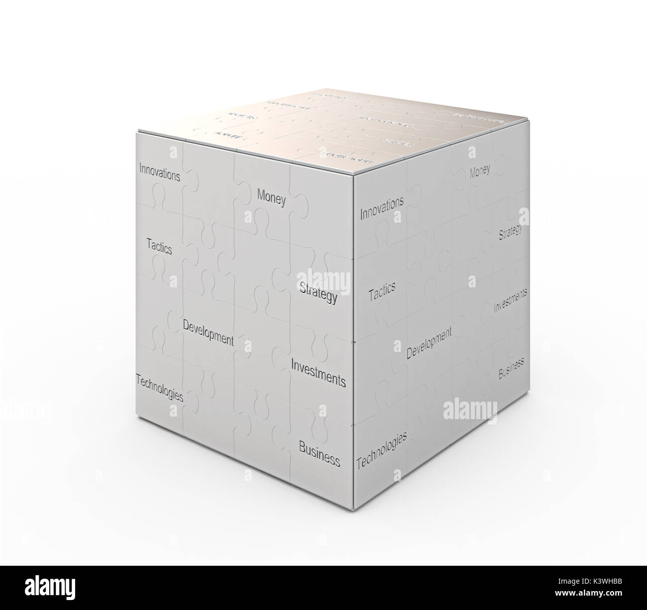 Business concept graphic background 3d rendering - Stock Image
