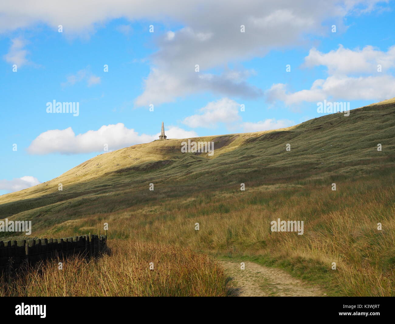 Stoodley Pike on Todmorden Moors - Stock Image