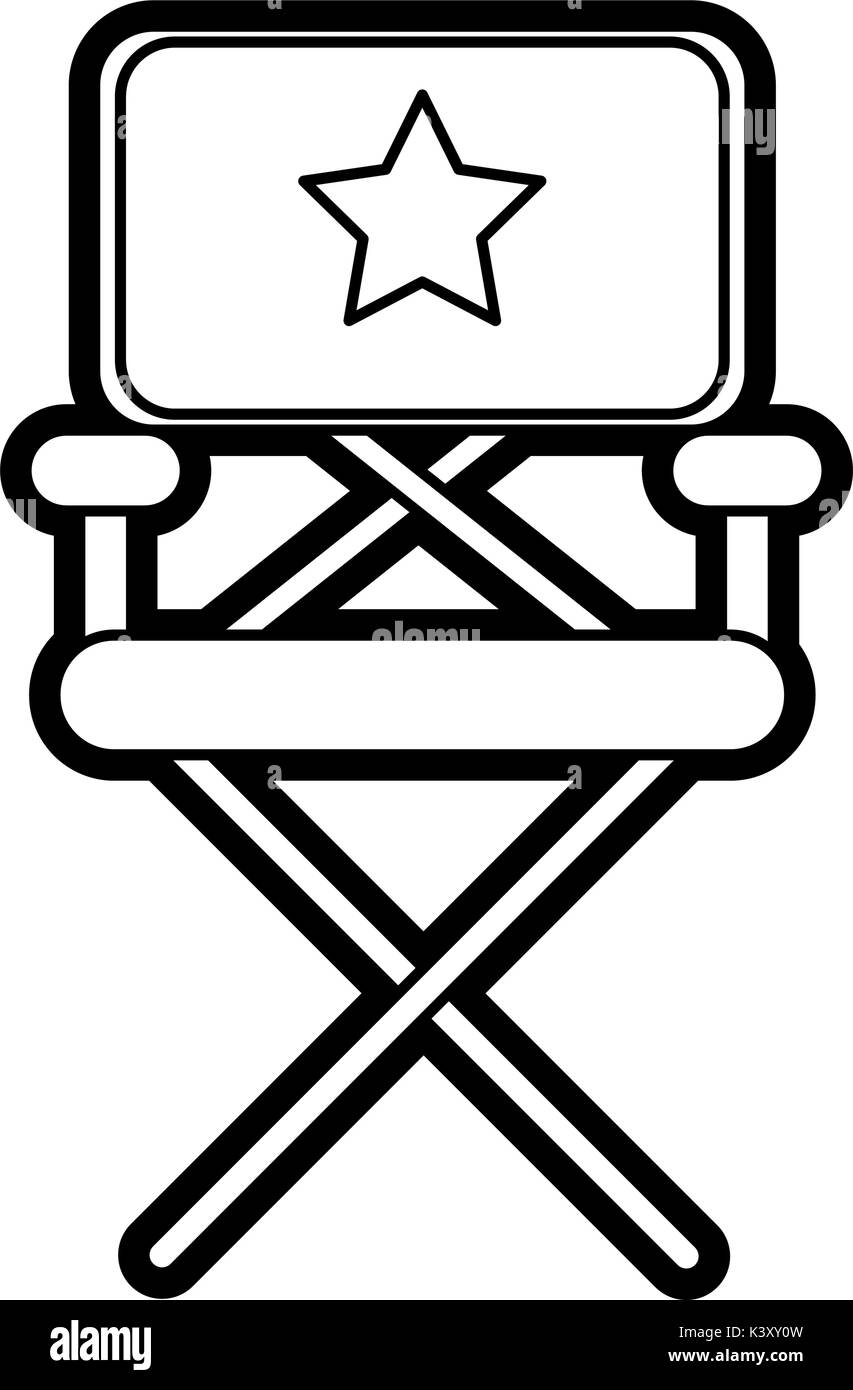 Isolated director chair design - Stock Image