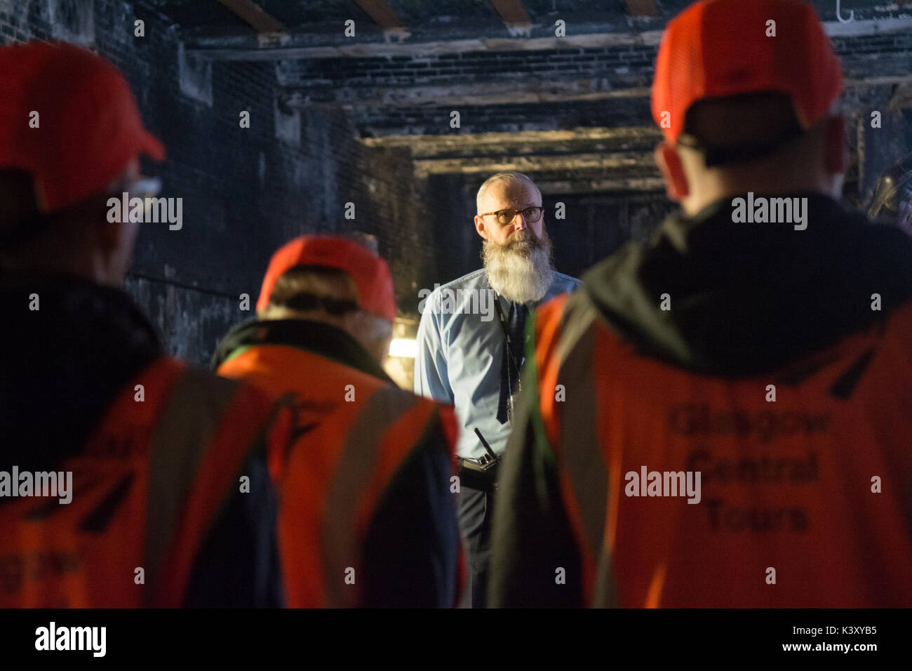 Glasgow Central Station Tour - Paul Lyons, Network Rail historian and tour guide - Stock Image