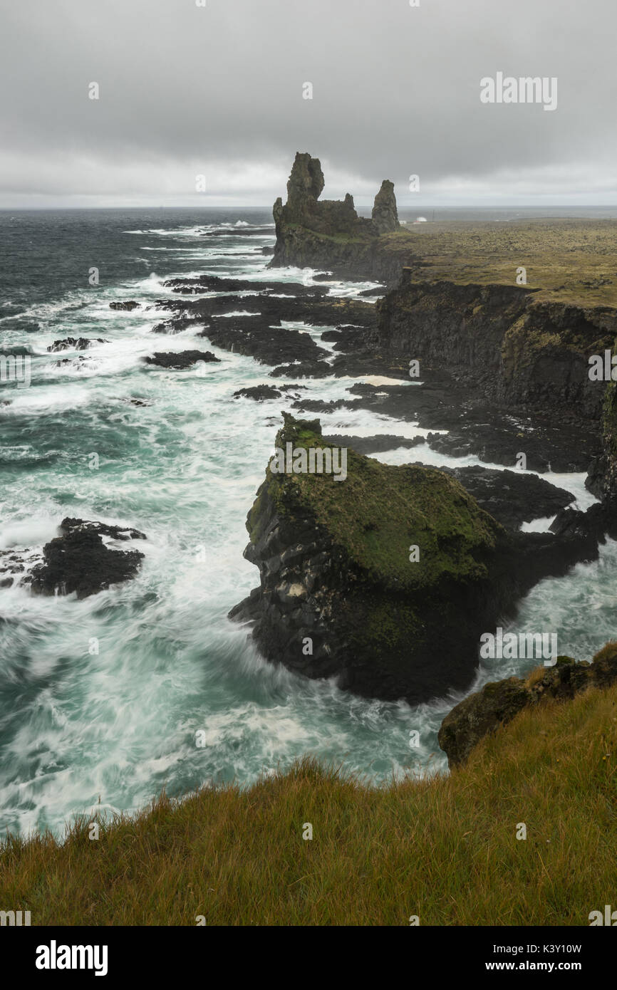 View from Londrangar in Snaefellsnes peninsula, Iceland. - Stock Image