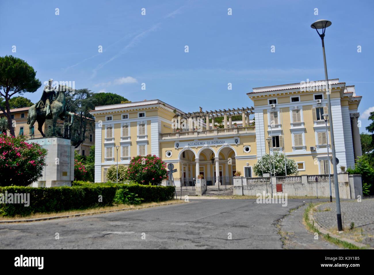 Academia di Romania, Piazza José de San Martin, Rome - Stock Image