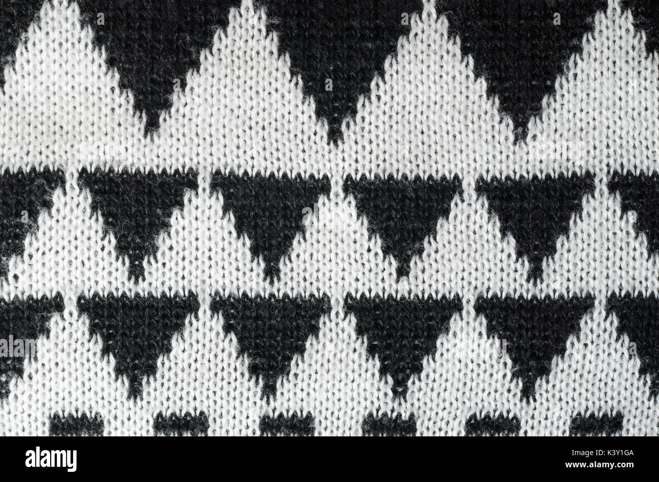 Close Up Black And White Hand Knitting Ornament Texture
