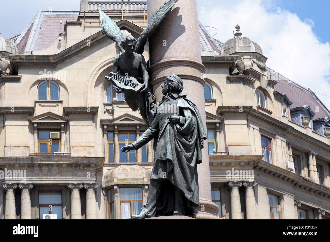 The monument to Adam Mickiewicz in Lviv - Stock Image