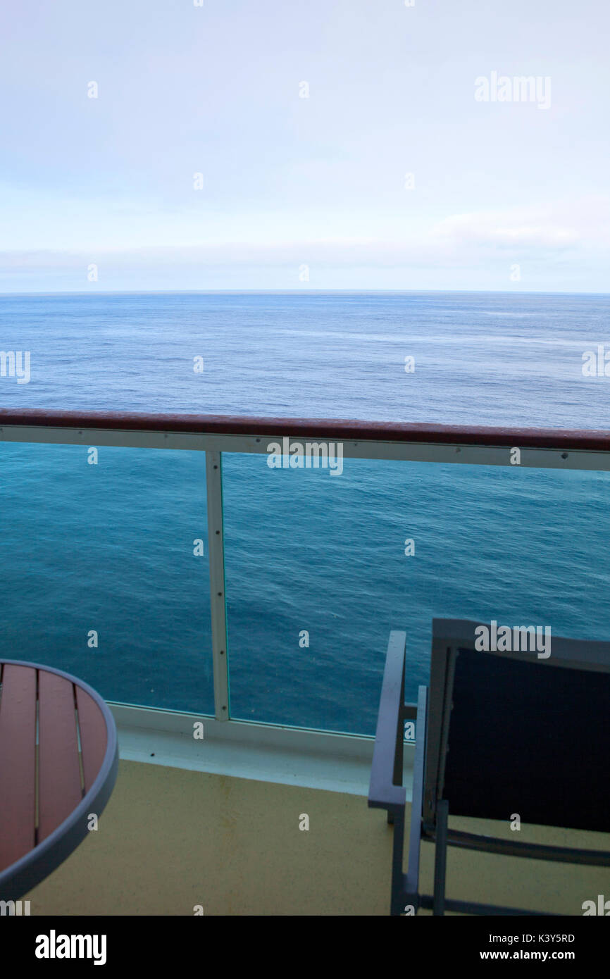 View from cruise ship balcony - Stock Image