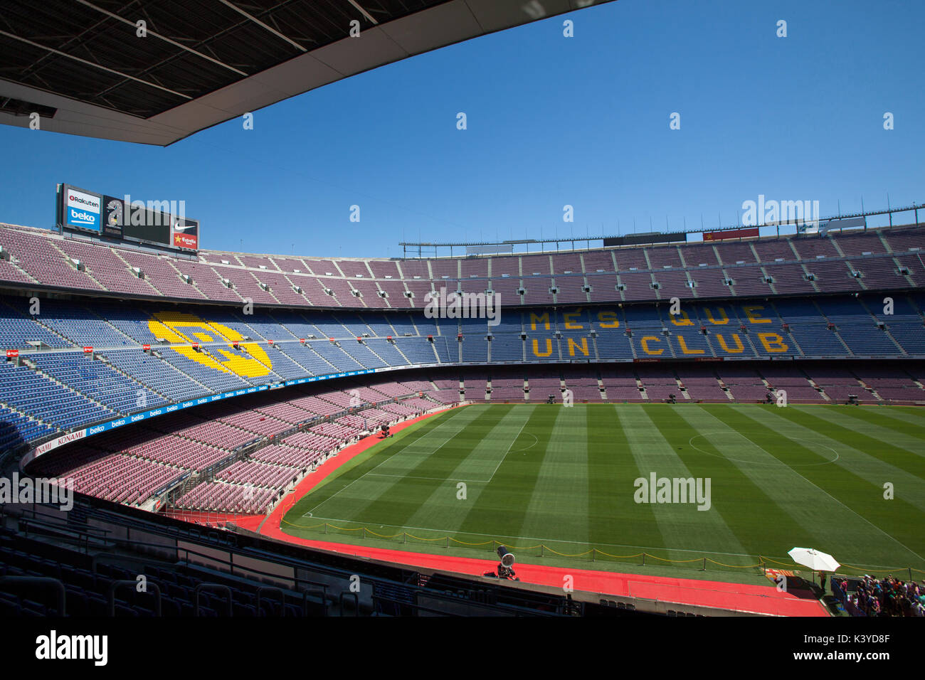 FC Barcelona Camp Nou tour and Museum experience Mes que un club - Stock Image