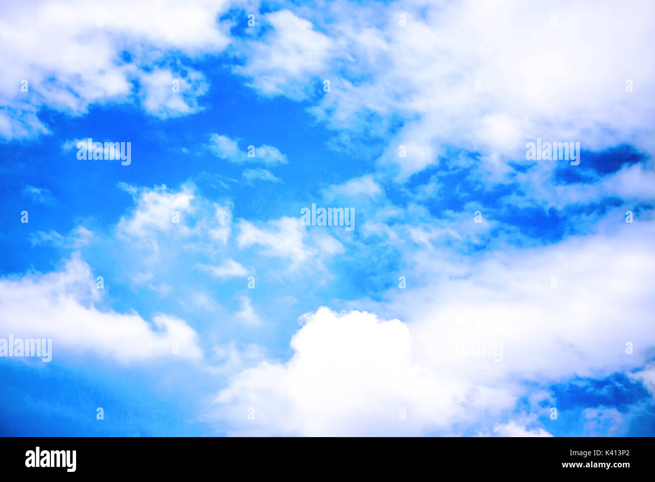 Blue sky cloudy in daylight Stock Photo