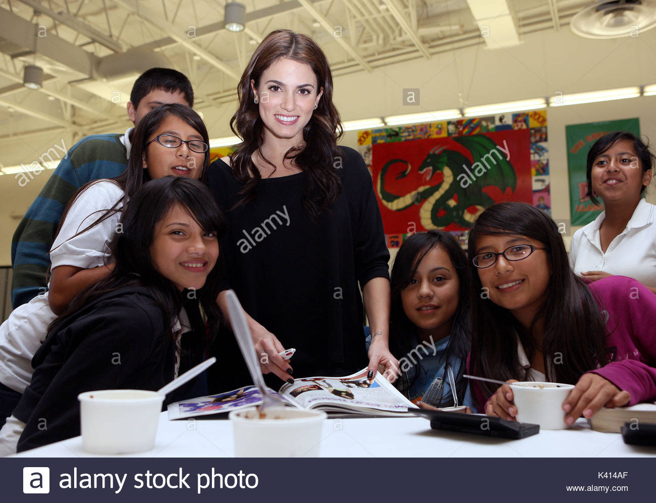 Nikki Reed Twighlight star Nikki Reed stops by Vista Middle