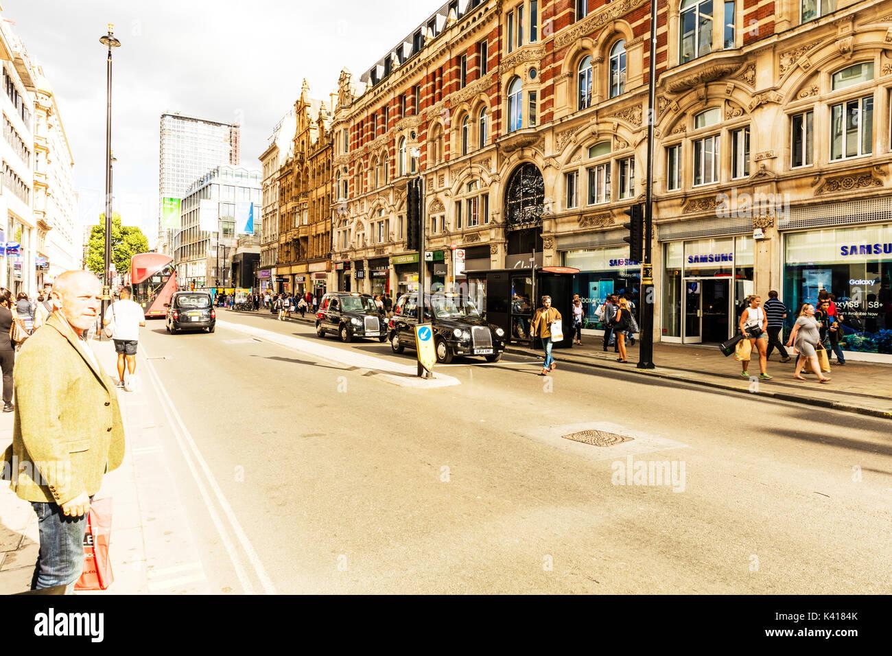 Oxford street London UK, Oxford street, Oxford st London, London main shopping street, Oxford street shopping London, Oxford st shops, London shopping - Stock Image