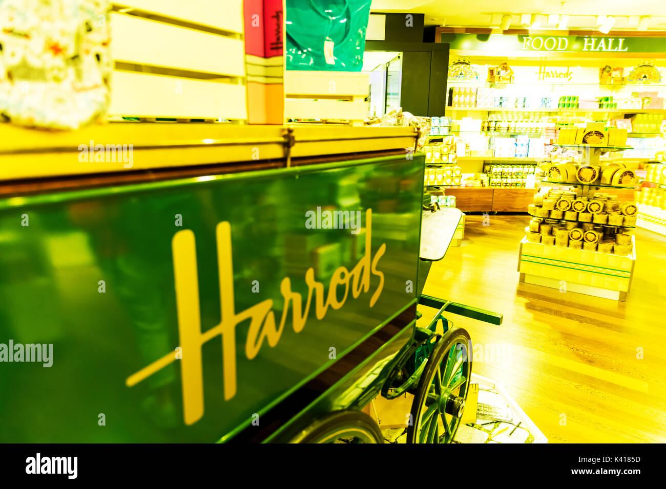 Harrods store, Harrods London UK, Harrods interior, inside Harrods, Harrods Knightsbridge, Harrods London, London department stores, London UK - Stock Image