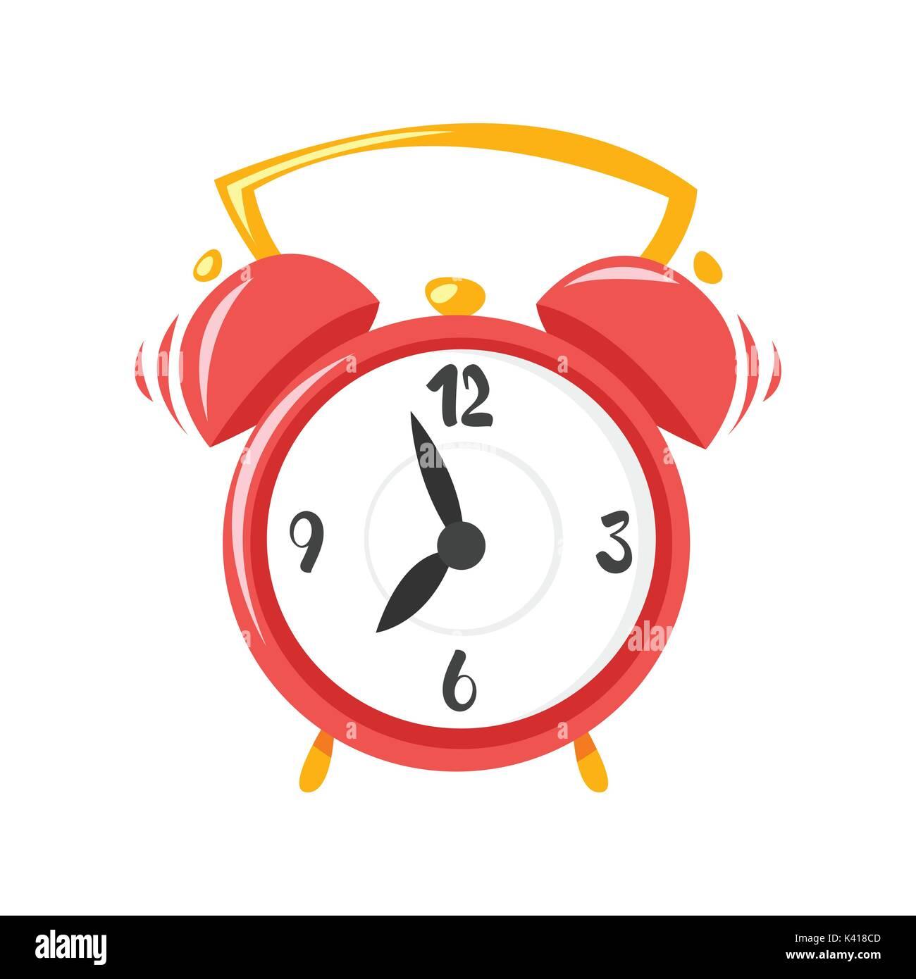Vector cartoon style illustration of alarm clock  Icon for