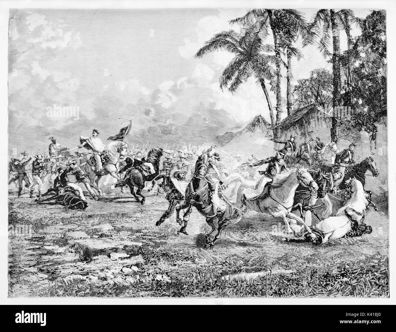 Old illustration of san antonio battle during uruguayan civil war old illustration of san antonio battle during uruguayan civil war the best known south american action of garibaldi created by e matania published on altavistaventures Gallery