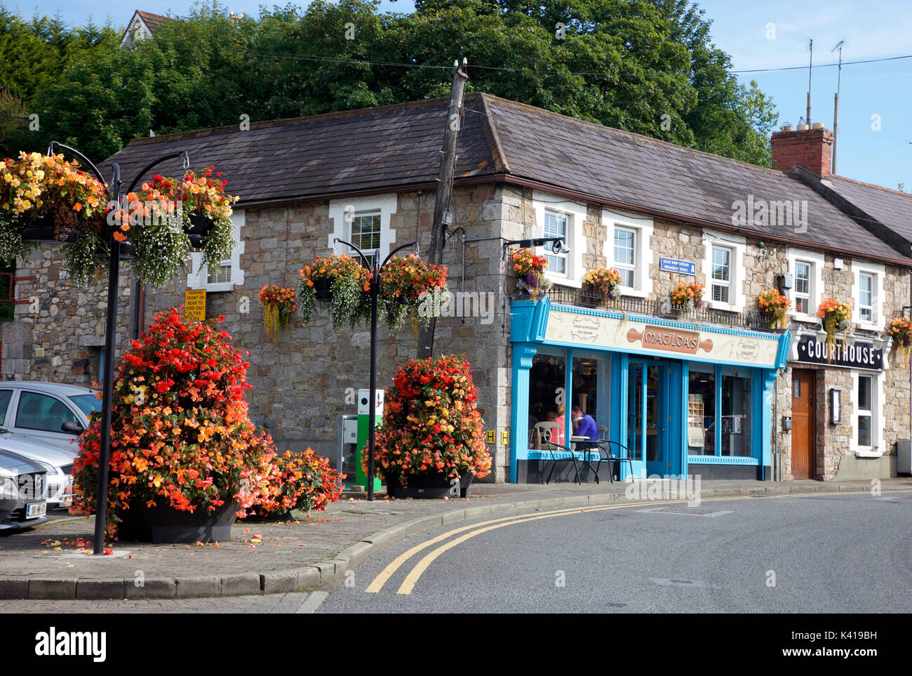 Matilda's and Courthpuse Restaurant in the Foodie town of Carrickmacross, Co. Monaghan - Stock Image