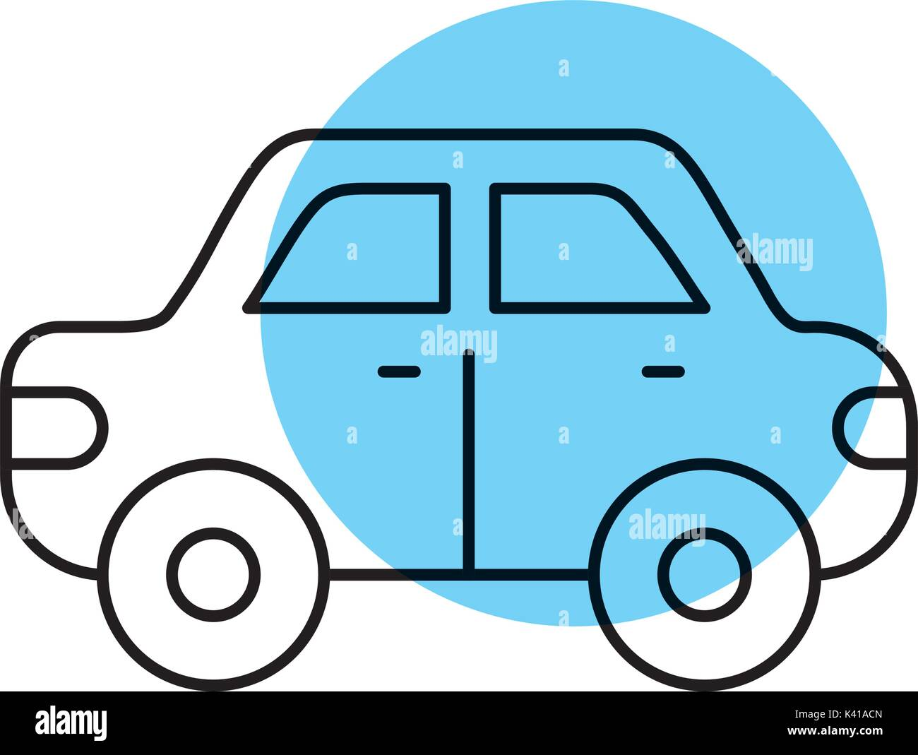 car side view automobile motor vehicle - Stock Image