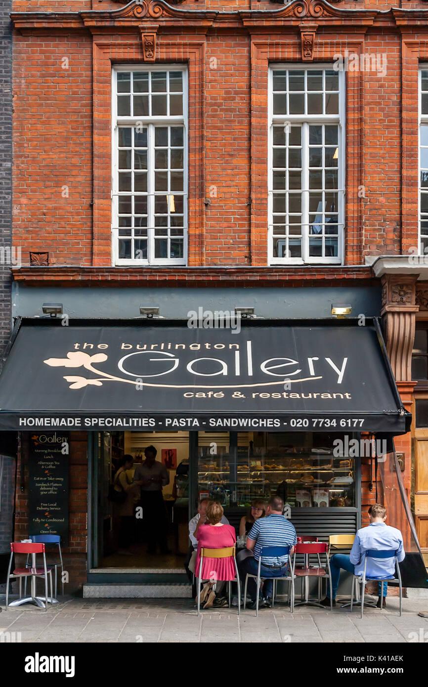 The Burlington Gallery Cafe, Old Burlington Street, London, UK - Stock Image