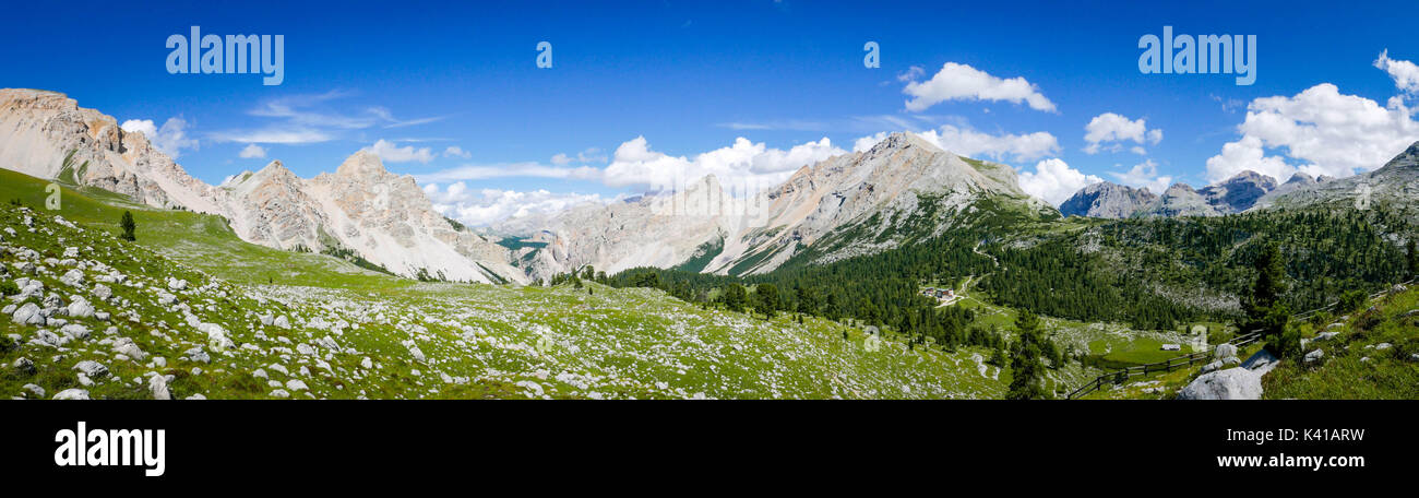 panorama view of the mountains - Stock Image