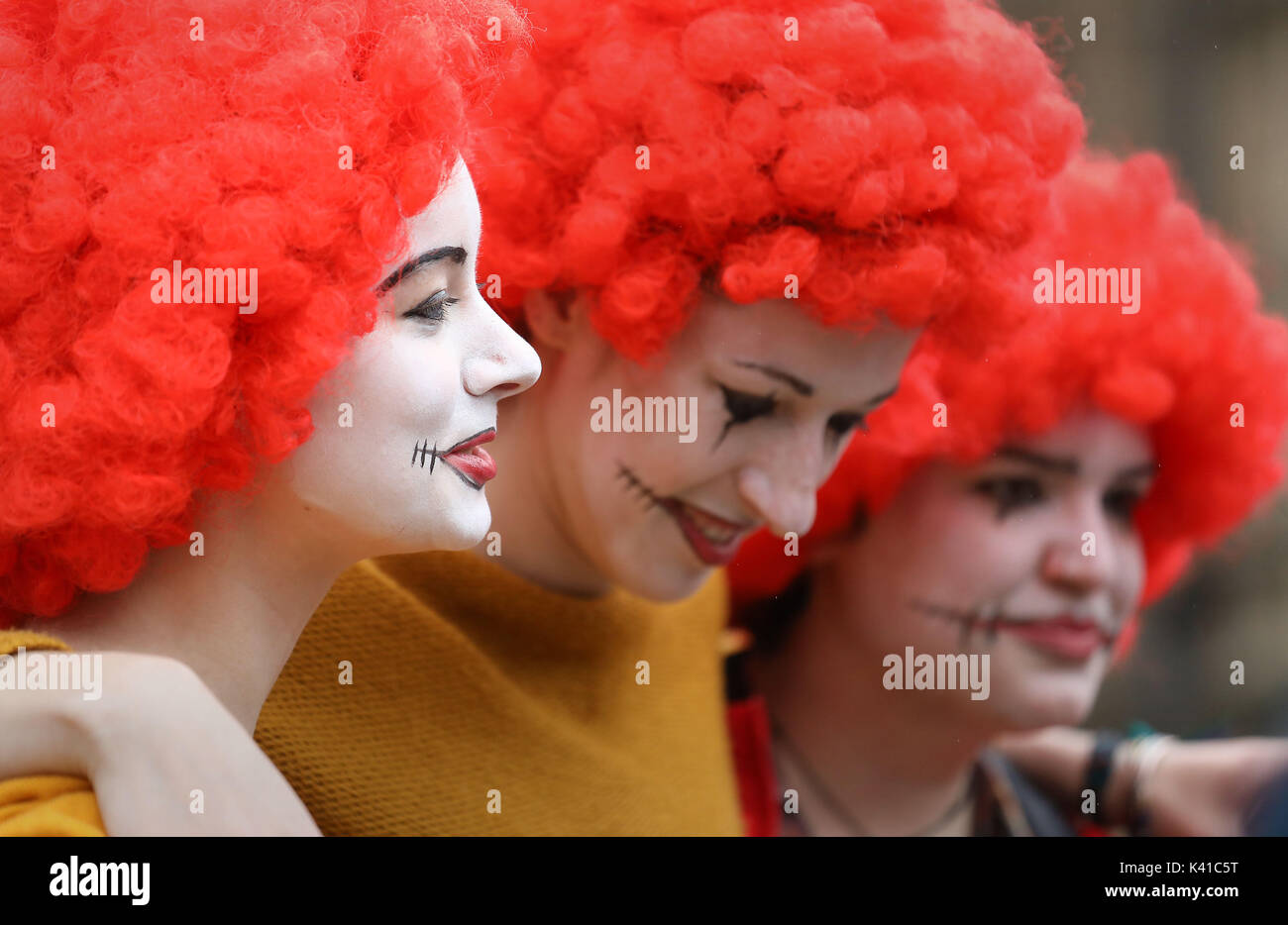 Supporters of workers from McDonald's restaurants in Cambridge and Crayford, SE London, during a rally at Old Palace Yard, London, after they voted overwhelmingly in favour of industrial action, amid concerns over working conditions and the use of zero-hour contracts. - Stock Image