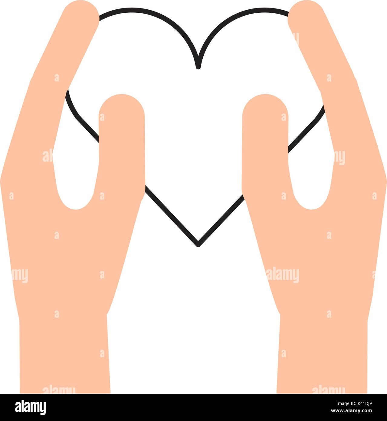 hand holding heart healthcare humanity charity - Stock Image