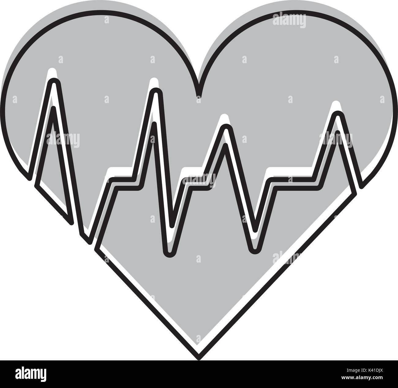 medical heart beat cardiology diagnosis - Stock Image