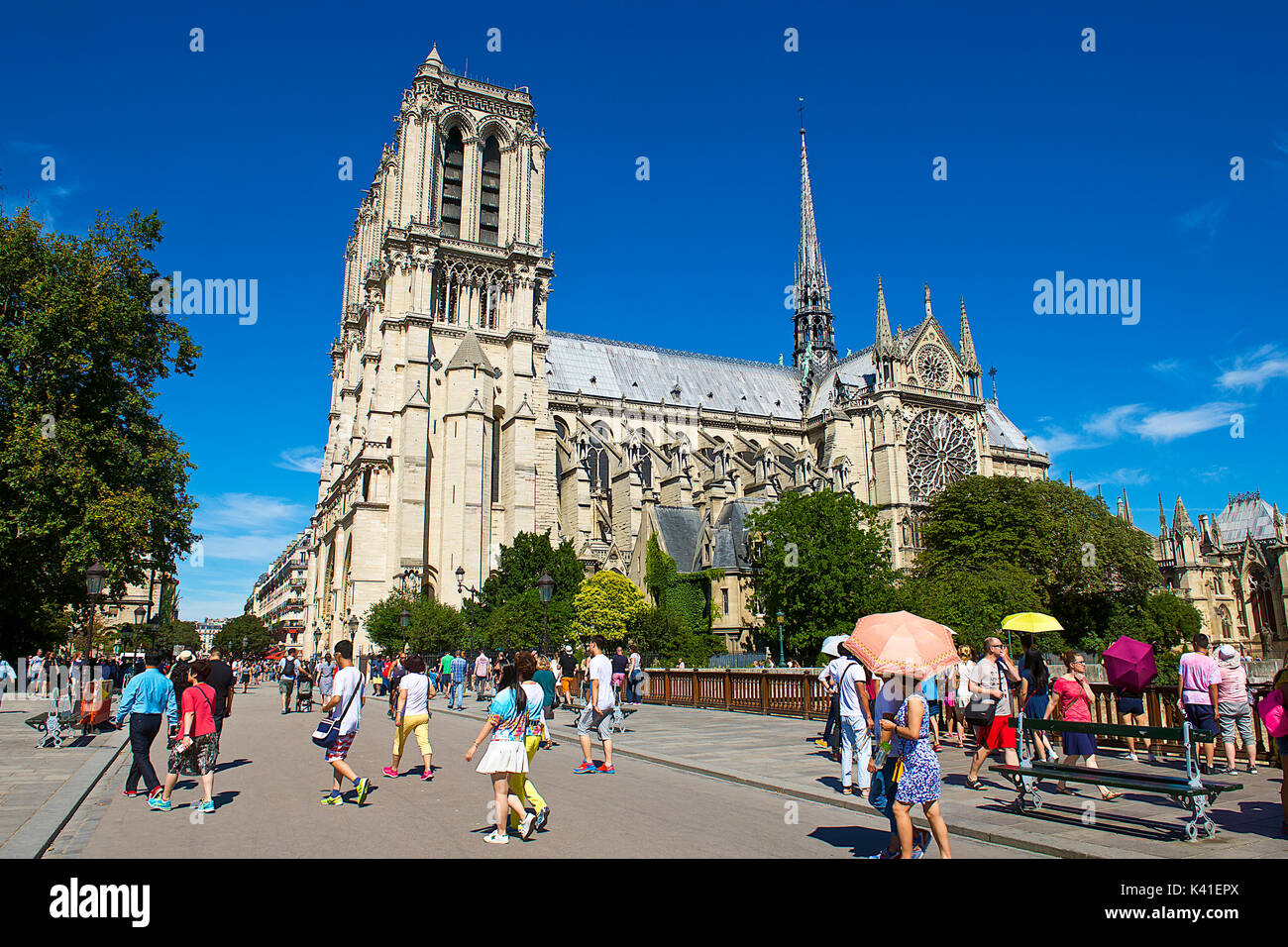 Notre Dame Cathedral,Paris,France - Stock Image