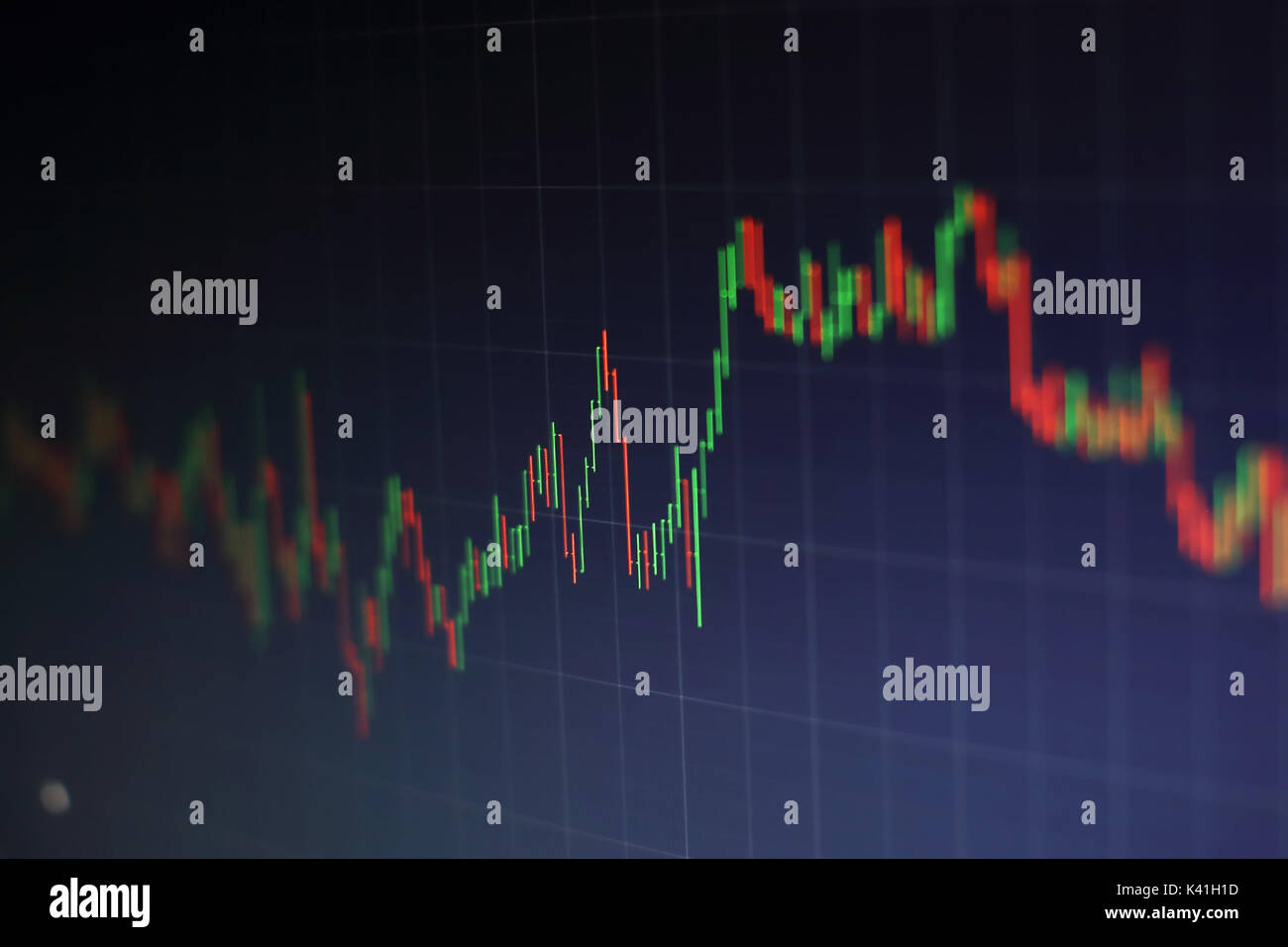 Business success and growth concept.Stock market business graph chart on digital screen.Forex market, Gold market Stock Photo