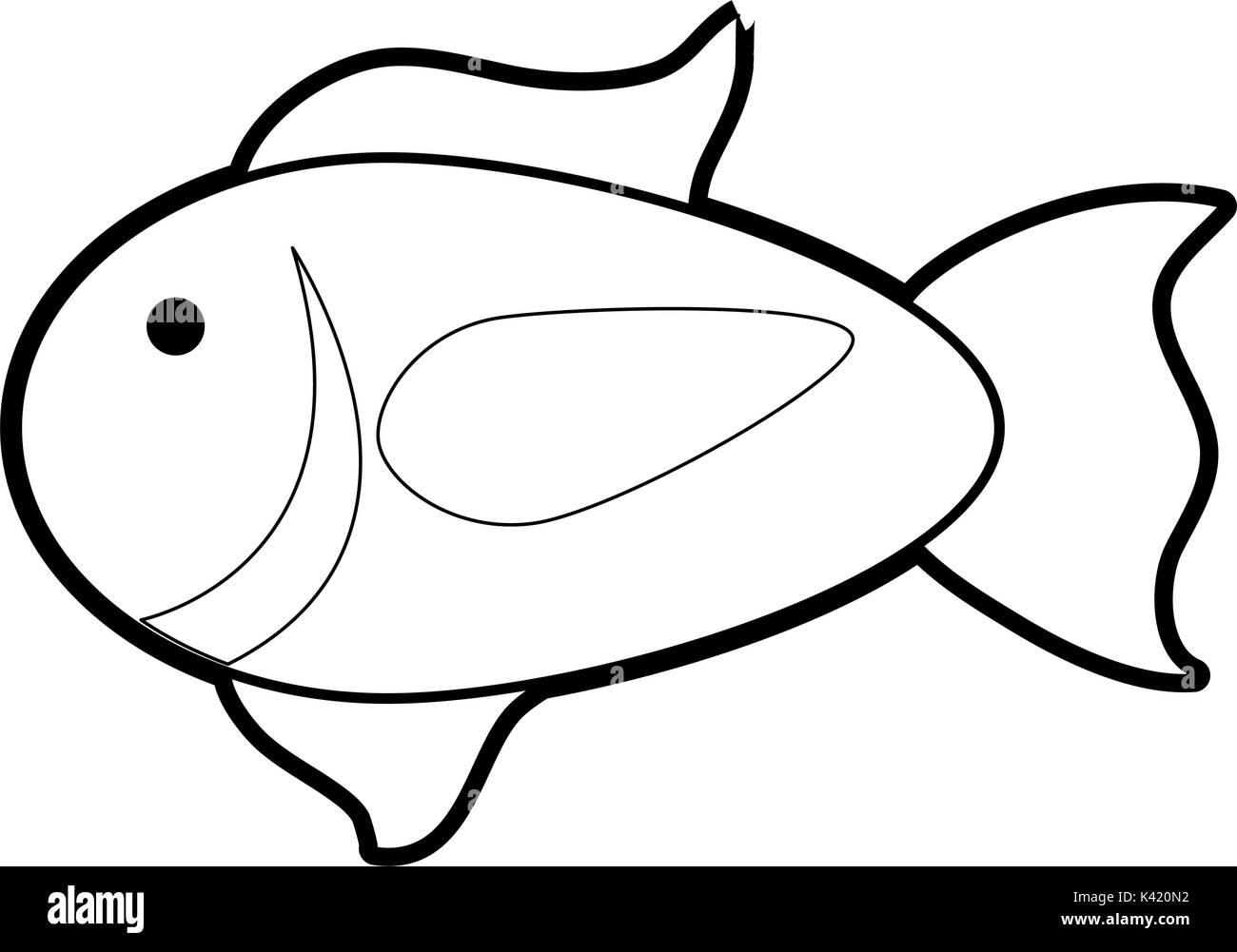 Isolated fish design - Stock Image