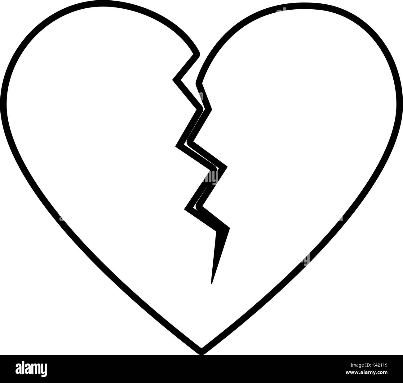 Broken heart black and white stock photos images alamy isolated broken heart design stock image biocorpaavc Images