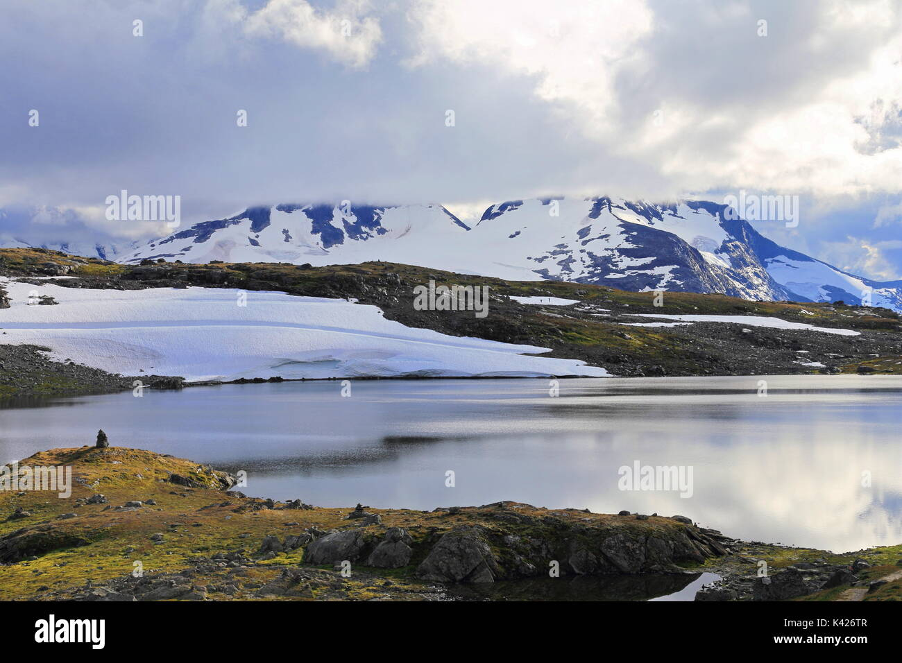 Scenery from Jotunheimen National Park in Norway - Stock Image