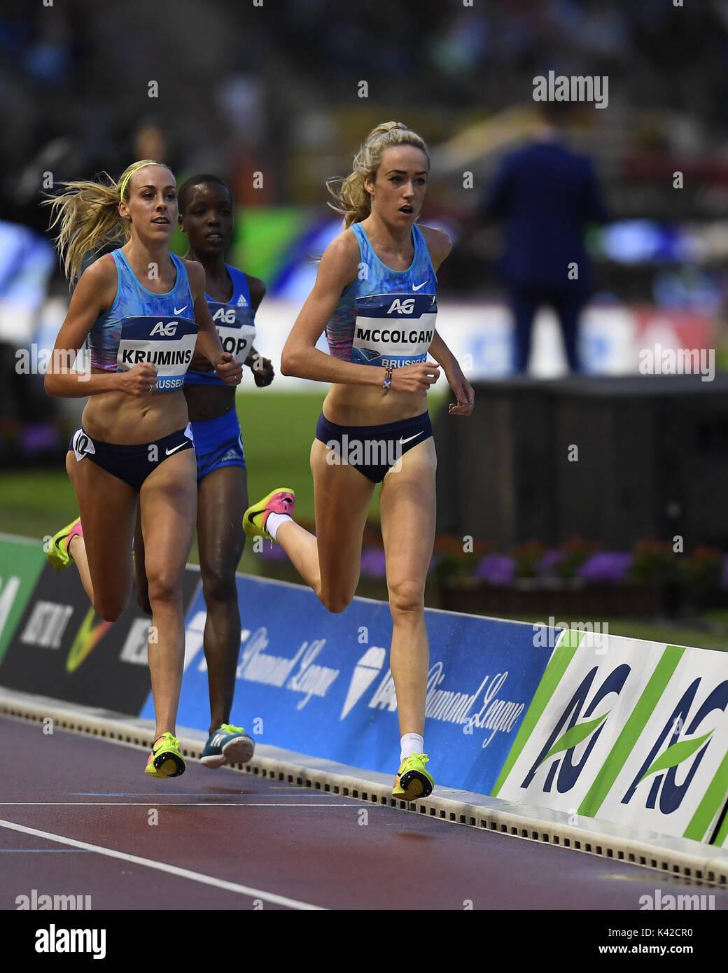 Eilish McColgan in 5000m action during IAAF Diamond League at King Baudouin Stadium Brussels Belgium on September Stock Photo