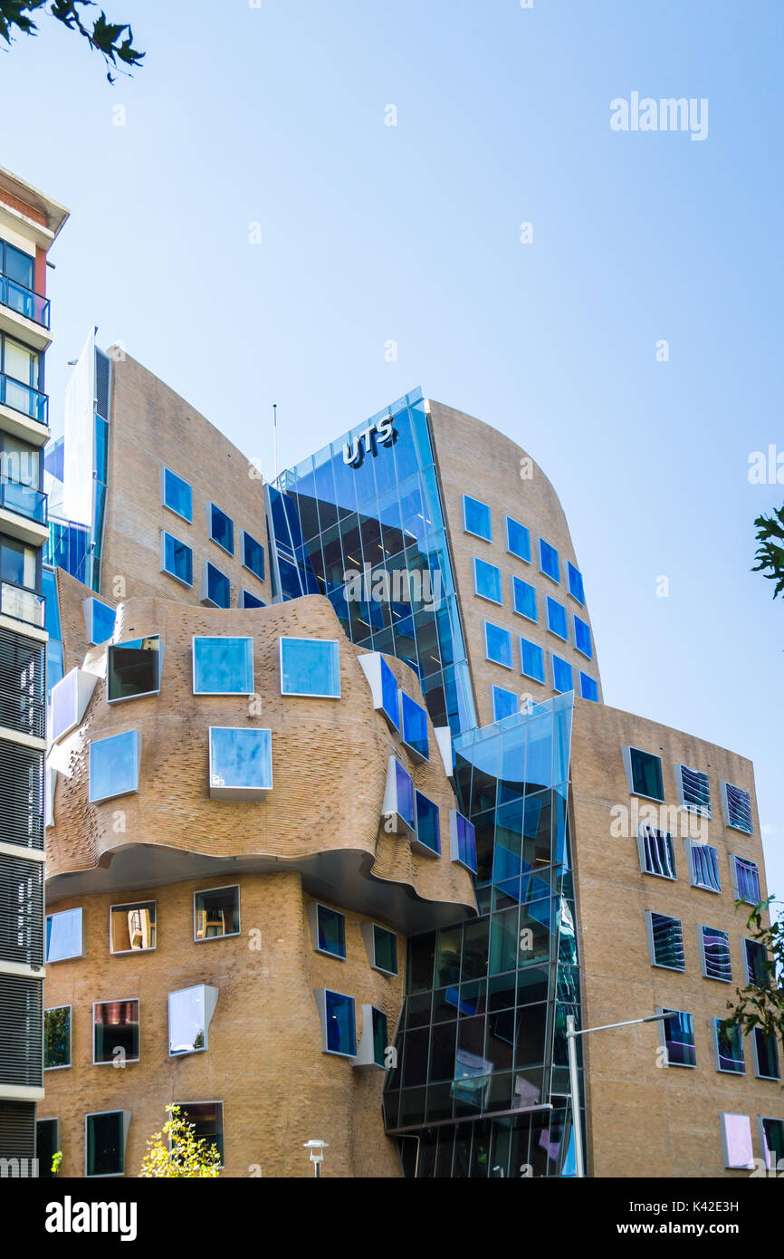 The first building in Australia designed by one of the worlds most influential architects Frank Gehry. Its named Stock Photo