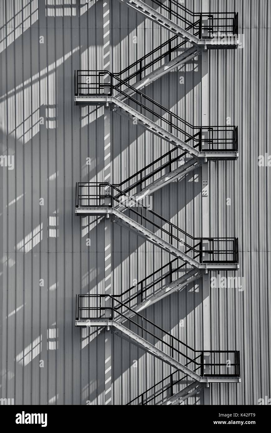 Industrial Exterior Staircase   Stock Image