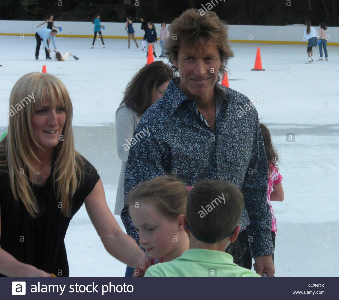 Ron duguay after the skating with the stars sws ceremony stock after the skating with the stars sws ceremony celebrities meet and greet at the trumps wollman rink located in central park nyc m4hsunfo