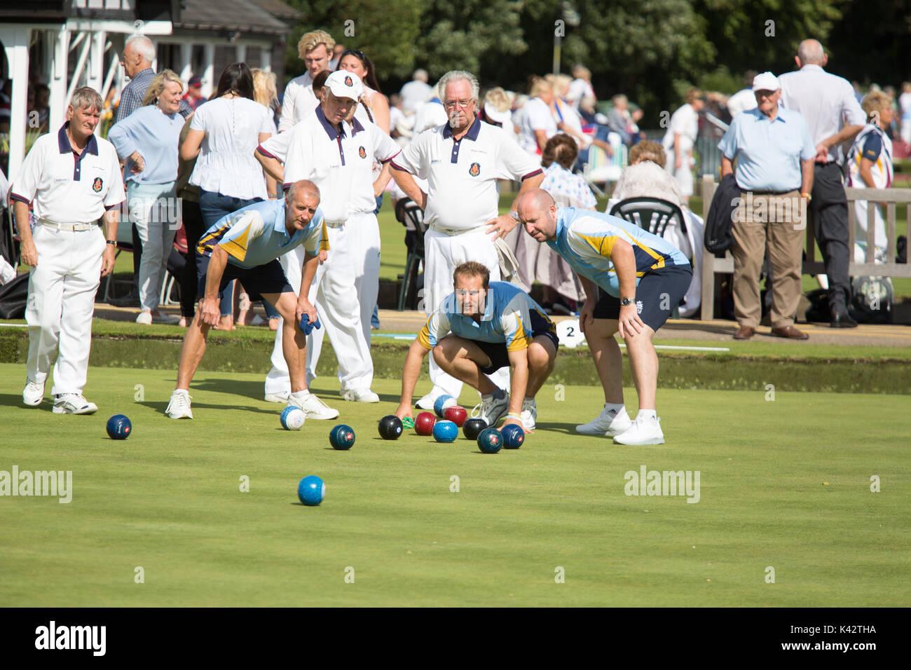 The National Bowls Finals, Victoria Park, Leamington Spa, England - Stock Image