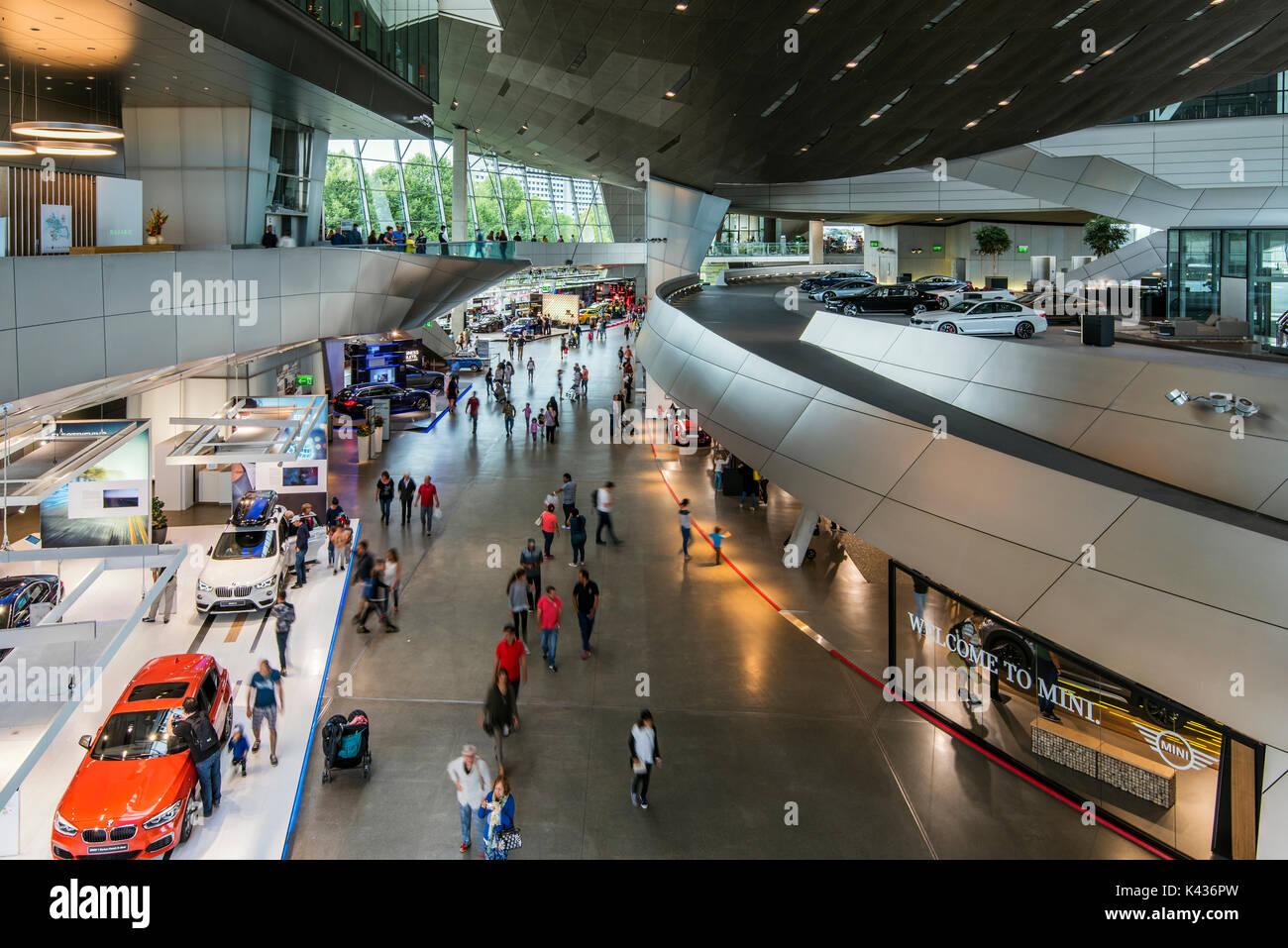 BMW Welt multi-use exhibition center, Munich, Bavaria, Germany - Stock Image