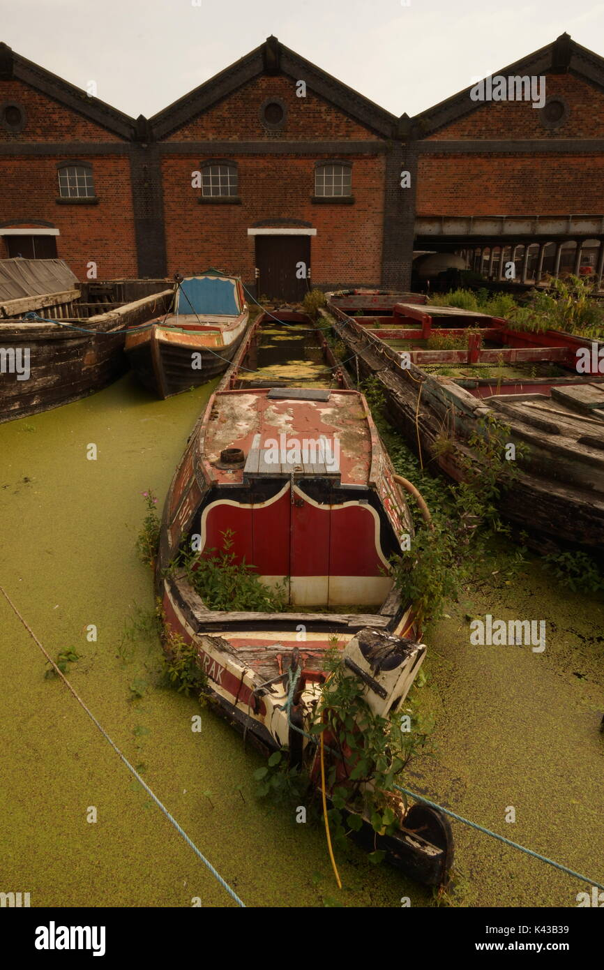 Boat Museum, Ellesmere Port, Canal Boats, History, The Wirral, Narrow Boats, British Heritage, Barges, Merseyside, Stock Photo