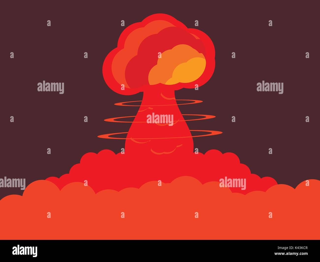 Nuclear explosion. Atomic bomb. Vector illustration - Stock Vector