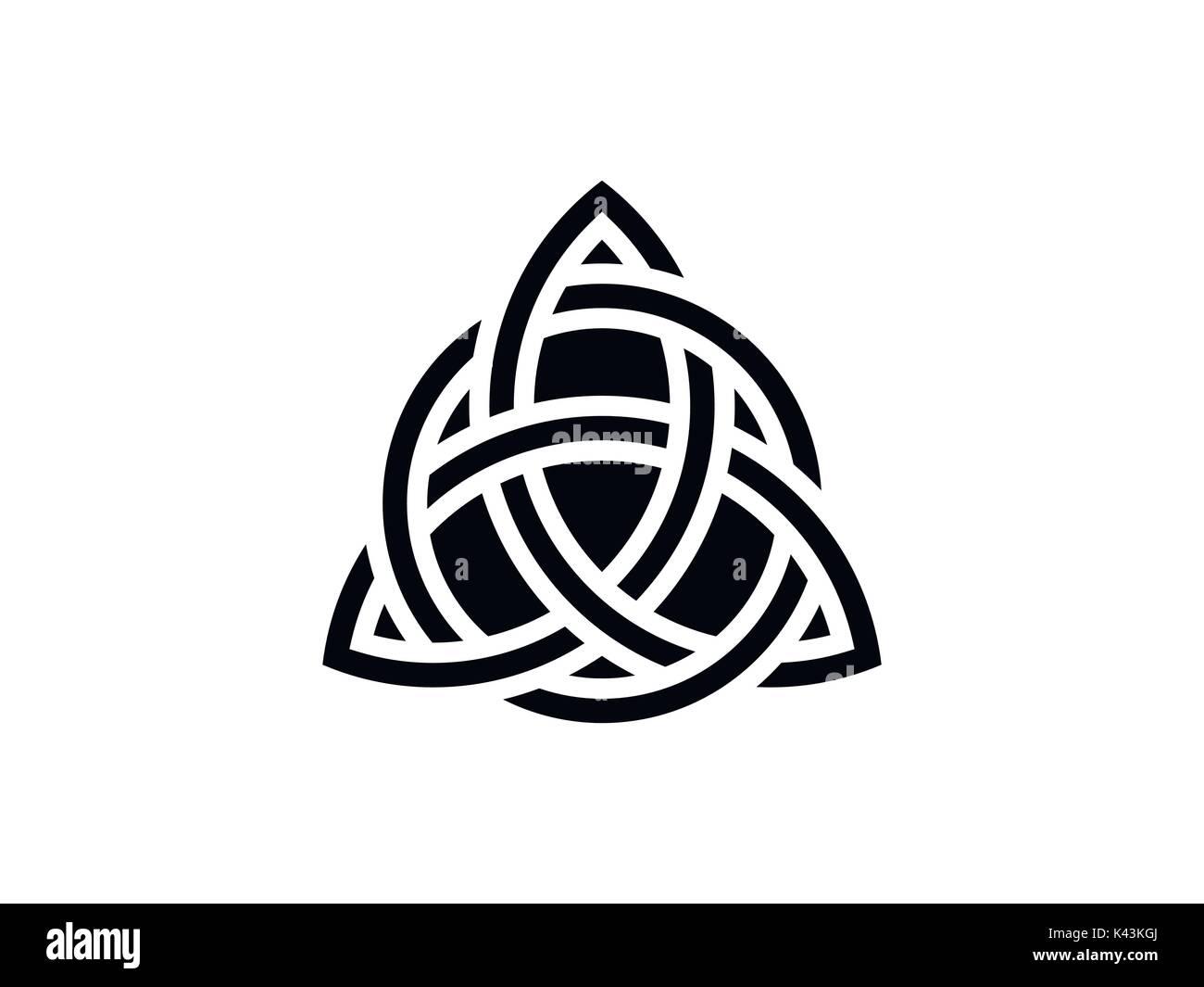 Triquetra. Trinity knot. Celtic symbol of eternity. Vector illustration - Stock Vector