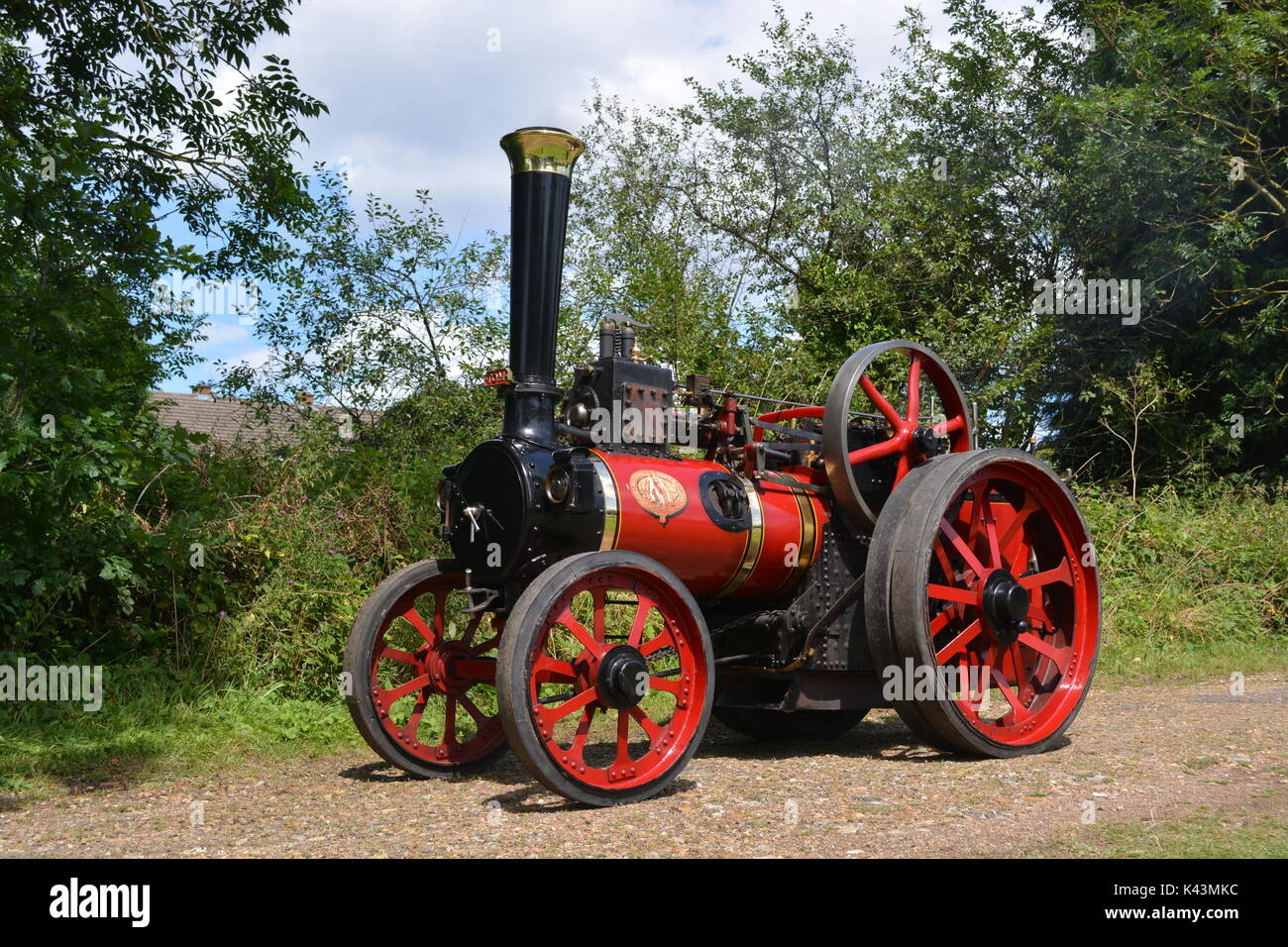 Marshall Traction Engine 6 inch scale model - Stock Image