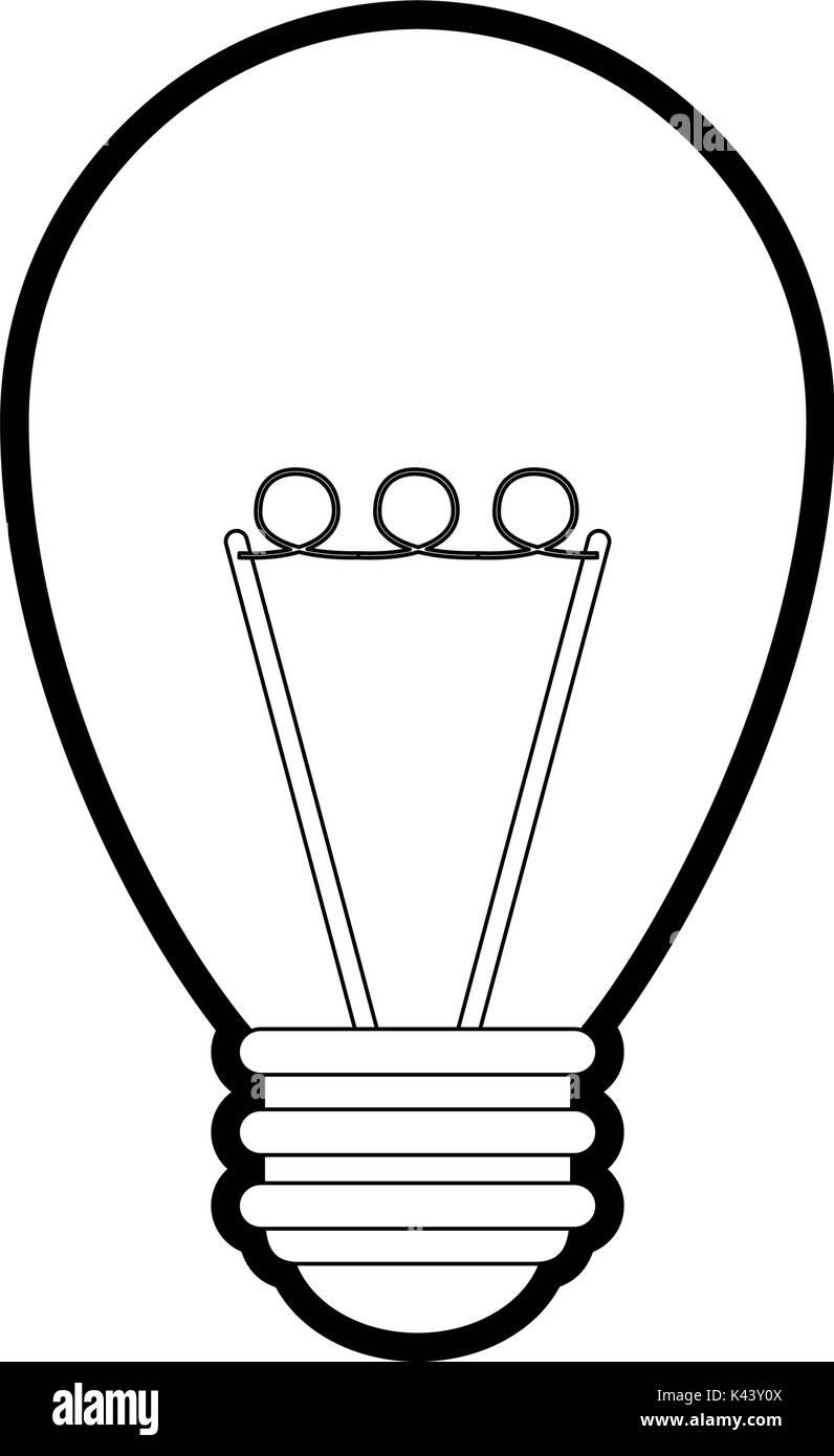 Isolated light bulb design - Stock Vector