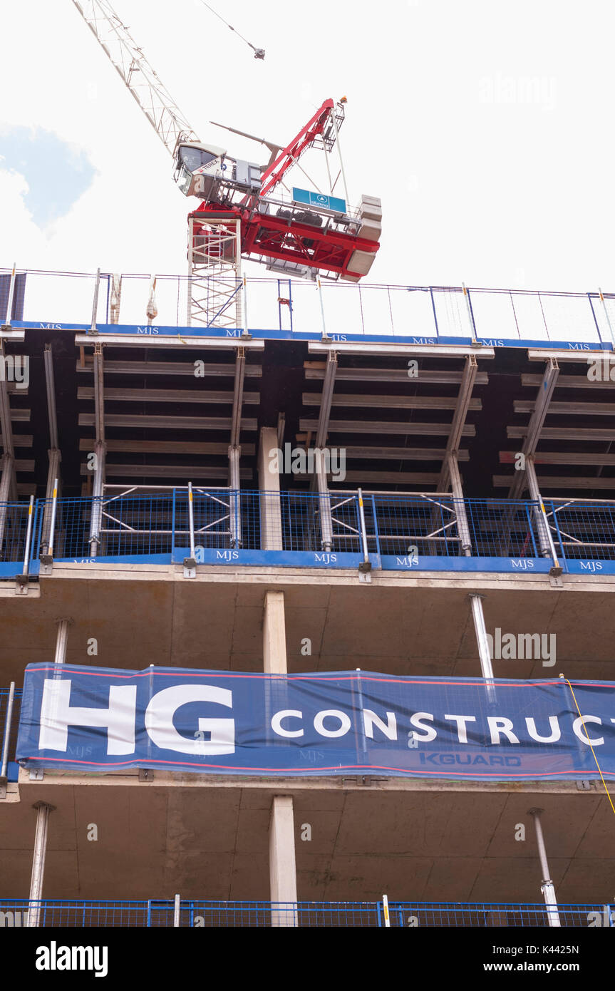 Construction work being carried out by HG construction in Norwich , Norfolk , England , Britain , Uk - Stock Image