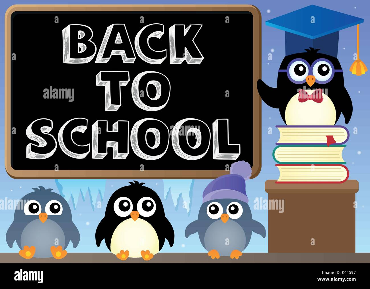 Free Vector | Back to school design with cute owl on a sign