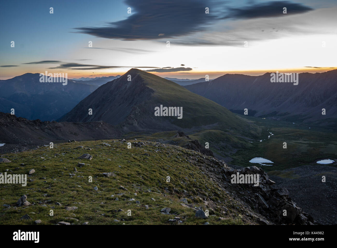From the side of Grays Peak, looking down on the famous Kelso Ridge - Stock Image